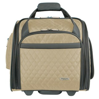 Travelon Wheeled Underseat Carry-On with Back Up Bag (Option: Khaki)