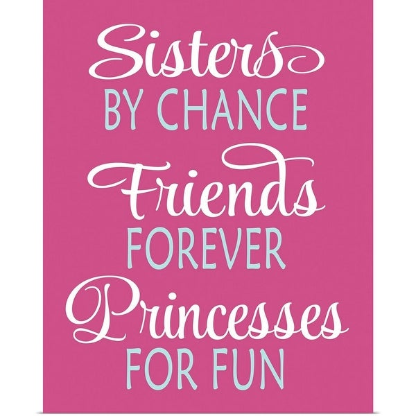 """""""Sisters Quote"""" Poster Print"""