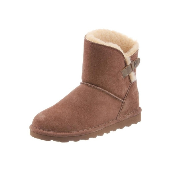 Bearpaw Boots Womens Margaery Slim Tread Topline Faux Leather