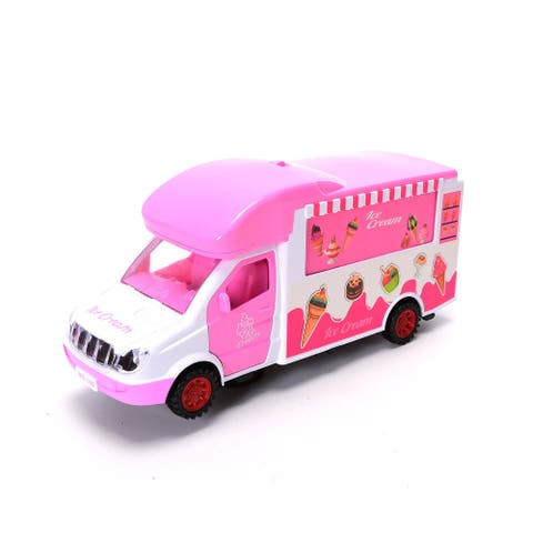 WonderPlay Battery Operated Ice Cream Van with Light & Music 3 Years & Up - Pink