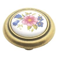 Hickory Hardware P776 English Cozy 1-1/4 Inch Diameter Mushroom Cabinet Knob - Bouquet