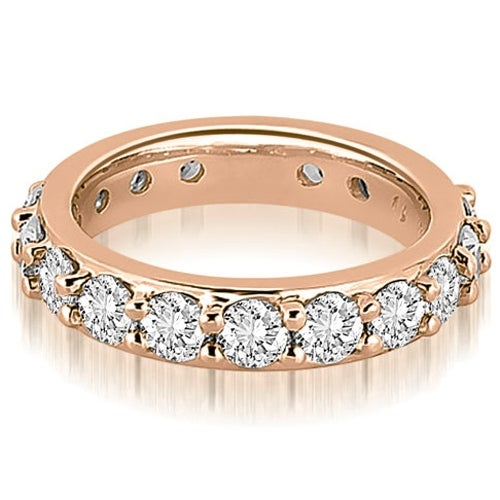 2.00 cttw. 14K Rose Gold Round Diamond Eternity Ring
