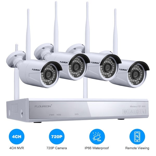 Shop 4CH Wireless CCTV 1080P DVR Kit Outdoor Wifi WLAN 720P IP
