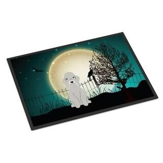 Carolines Treasures BB2280JMAT Halloween Scary Bedlington Terrier Blue Indoor or Outdoor Mat 24 x 0.25 x 36 in.