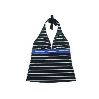 Nautica Womens Striped Halter Tankini Swimsuit - 10