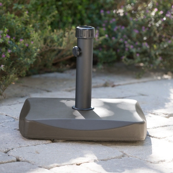 Square 55-pound Brown Umbrella Base by Christopher Knight Home. Opens flyout.