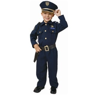Toddler Deluxe Police Officer Costume - 4T