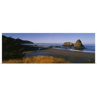 """Rocks on the beach, Cannon Beach, Oregon"" Poster Print"