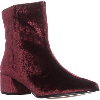 Chinese Laundry Florentine Ankle Boots, Wine Velvet