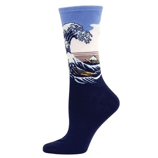 Women's Fine Art Socks - Great Wave - Medium