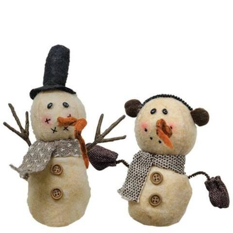 Snowman Plush Ornament Asst.