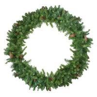 Dakota Red Pine Artificial Christmas Wreath - 48-Inch, Unlit - Green