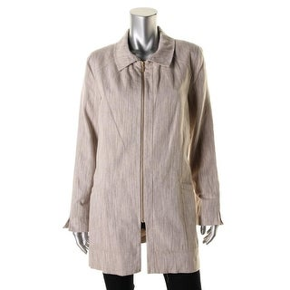 Laundry by Shelli Segal Womens Linen Blend Long Sleeves Jacket