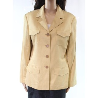Jones New York Country NEW Beige Women's Size 12 Button Jacket Silk