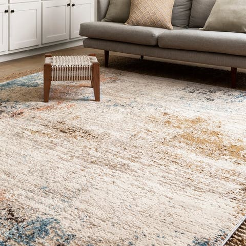 Alexander Home Keara Abstract Distressed Contemporary & Modern Rug