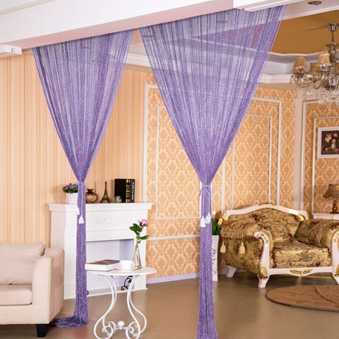 Home Decor Threads Glitter String Curtains One Panel 18 Colors