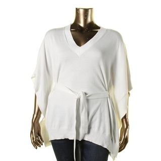 MICHAEL Michael Kors Womens V-Neck Dolman Sleeves Pullover Sweater - L/XL