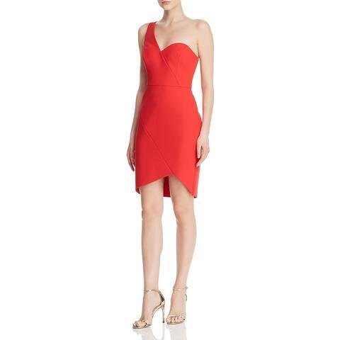 BCBG Max Azria Women's One Shoulder Mini Sheath Dress