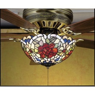 Meyda Tiffany 27458 Stained Glass / Tiffany Fan Light Kit from the Fixtures Collection