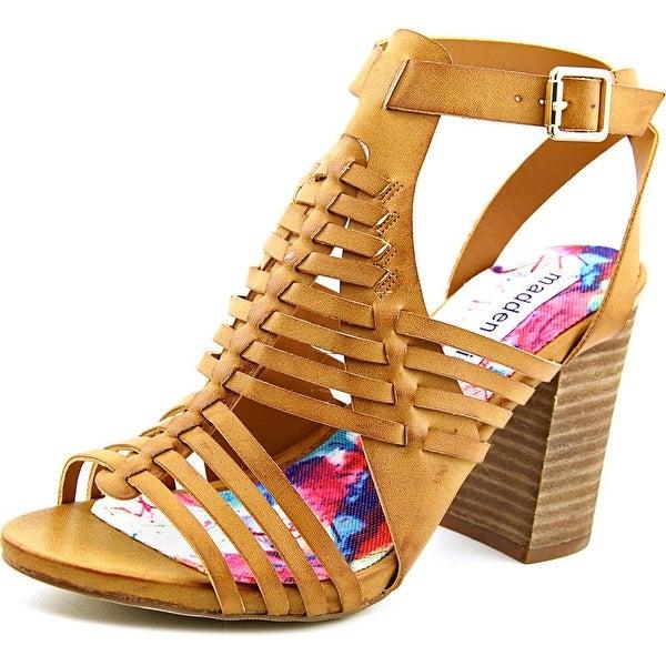 Madden Girl Romulous Women Open Toe Synthetic Tan Sandals