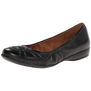 Naturalizer Womens Ginger Leather Slip On Ballet Flats