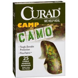 Curad Camp Camo Bandages One Size Brown 25 Each|https://ak1.ostkcdn.com/images/products/is/images/direct/3b929fb84fbc5f2fb26d69a6d8cc2e5b94bb769b/636232/Curad-Camp-Camo-Bandages-One-Size-Brown-25-Each_270_270.jpg?impolicy=medium