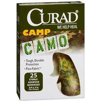 Curad Camp Camo Bandages One Size Brown 25 Each