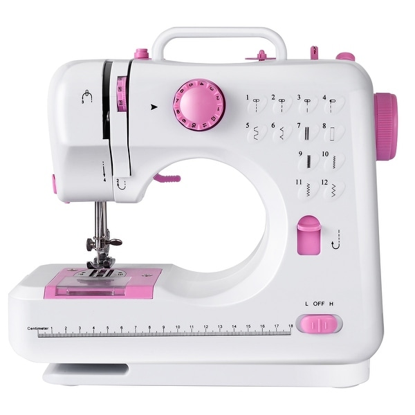 Costway Sewing Machine Free-Arm Crafting Mending Machine with 12. Opens flyout.