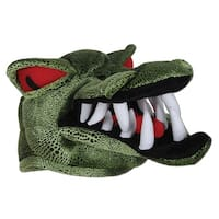 Club Pack of 6 Green With Big White Teeth Plush Crocodile Hat Costume Accessories