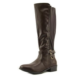 Rampage Ilite Women Round Toe Synthetic Brown Knee High Boot