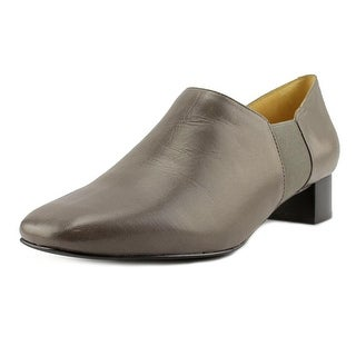 Trotters Lillian Women Square Toe Leather Gray Bootie