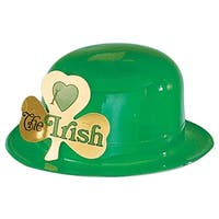 Pack of 24 I Love the Irish Green Derby Hat St. Patrick's Day Party Favors - Gold