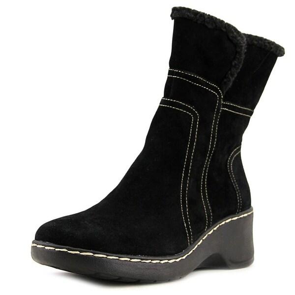 Aerosoles Side Kick Women Round Toe Suede Black Winter Boot