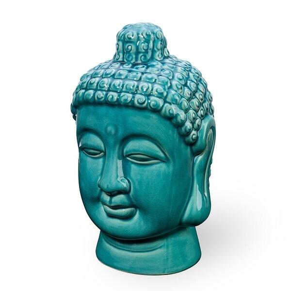 """24/""""H Long Buddha Head Long Glossy Gold Black"""