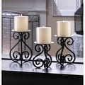 Black Iron Candleholders Set - Thumbnail 0