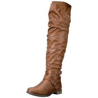 Carlos by Carlos Santana Womens Sana Almond Toe Over Knee Fashion Boots