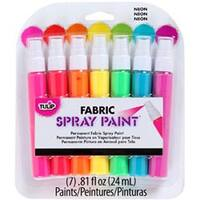 Neon - Tulip Fabric Spray Paint Mini Pack .81Oz 7/Pkg