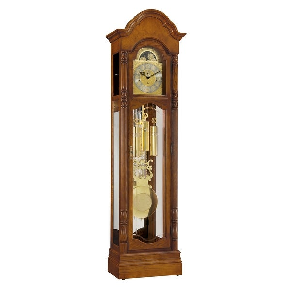 Ridgeway Primrose Traditional, Elegant, Antique Design, Grandfather Style Chiming Floor Clock with Pendulum and Movements. Opens flyout.
