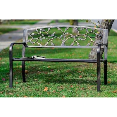 Bronze Tree Garden Bench 50 Inch Long