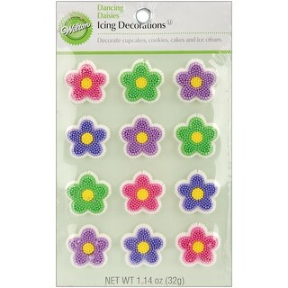 Icing Decorations 12/Pkg-Dancing Daisies