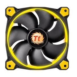 Thermaltake Fan CL-F038-PL12YL-A Riing 12 LED Yellow 120x120x25mm 1500RPM LNC Hydraulic Bearing Retail