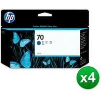 HP 70 130-ml Blue DesignJet Ink Cartridge (C9458A) (4-Pack)