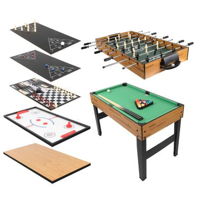 10-in-1 Combo Game Table Includes Foosball Billiards Hockey Shuffleboard Bowling