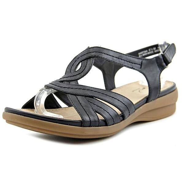 Kim Rogers Martina Women  Open-Toe Synthetic Black Slingback Sandal