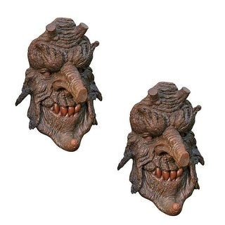 Design Toscano Halloween Poison Oak Greenman Tree Sculpture: Set of Two
