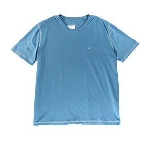 Nautica NEW Blue Mens Size XL Crewneck Slim Fit Performance Tee T-Shirt