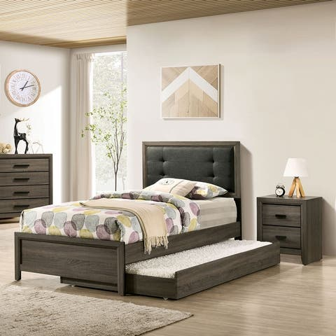 Furniture of America Aury Transitional Grey 3-piece Bedroom Set