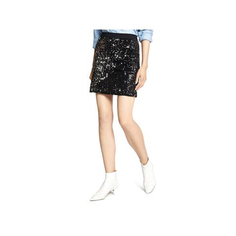 Sanctuary Womens Mini Skirt Metallic Sequined