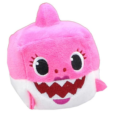 Pinkfong Shark Family 3 Inch Sound Cube Plush - Mommy Shark Pink - Multi