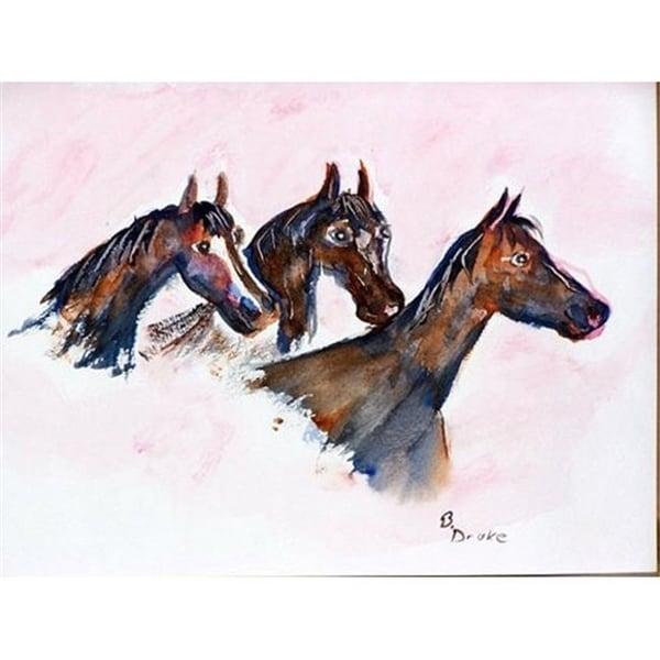 Betsy Drake DM419 Three Horses Doormat 18 x 26